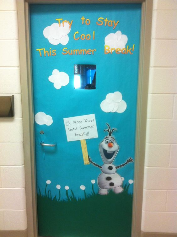 Classroom Break Ideas : Frozen olaf bulletin board door count down to summer