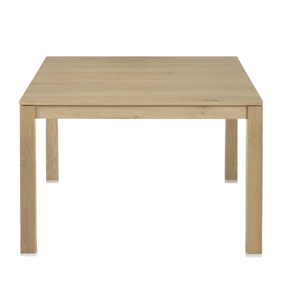 Table carr e en plaqu ch ne 6 couverts naturel - Table et chaise en pin ...