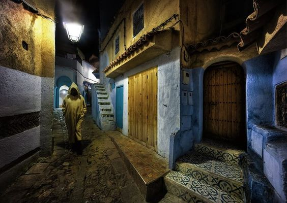 Here's a picture of a mysterious and amazing place in Morocco. It was a cold night up in the little mountain village of Chefchaouen. All the men there wear these pointy-hooded heavy robes called jilabas. There are many different colors and they all roam the streets at night enshrouded in mystery. Reminds me of a fictional Patrick Rothfuss universe! #treyratcliff More on my blog at http://ift.tt/qCe472