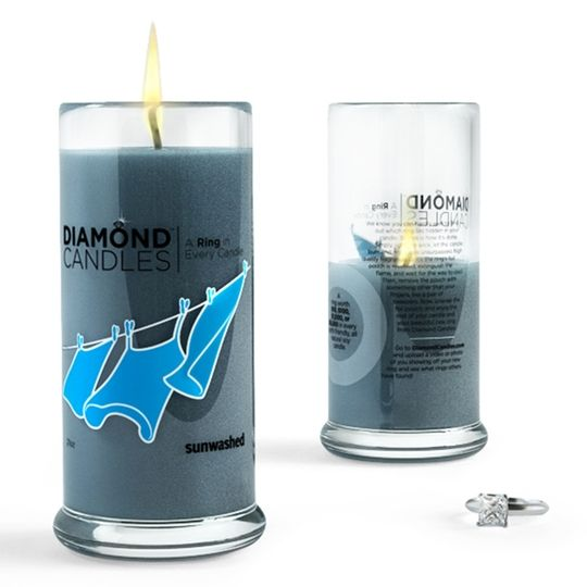 Smell's SOO GOOOD!!Notes in a bottle are for amateurs. Try a diamond in a candle for real BOSS style.
