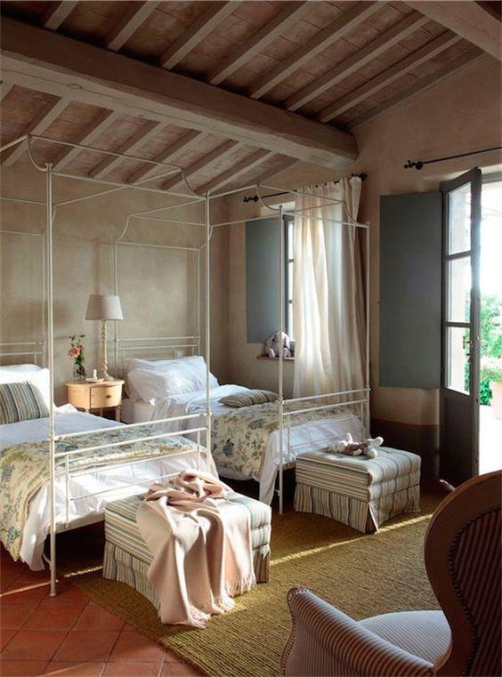 Camas con dosel de hierro dormitorios hierro forjado - Camas estilo romantico ...