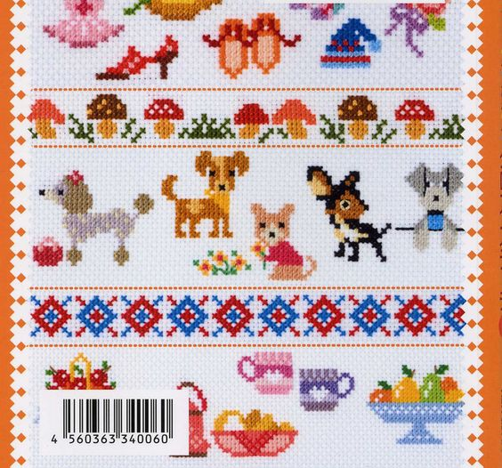 Easy cross stitch - there are no charts but these are pretty simple. Click the 'back' button for several more pages of motifs.
