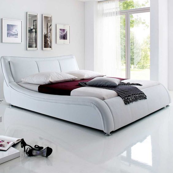 Die besten 25+ Lederbett Ideen auf Pinterest Weißes lederbett - schlafzimmer mit polsterbett