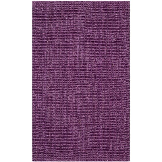 Natural Fiber Purple Rug