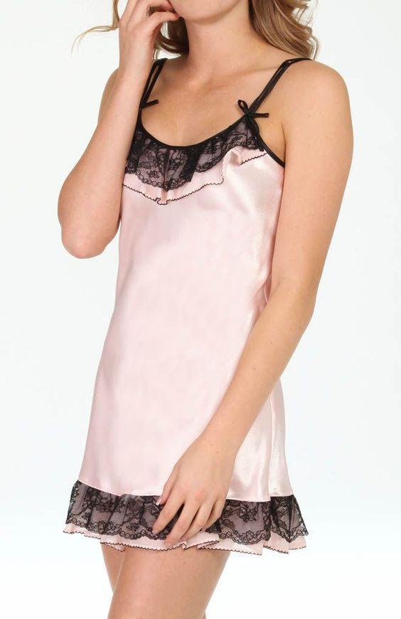 Oscar De La Renta Lace Enchantment Chemise 681683L - Oscar De La Renta Sleepwear