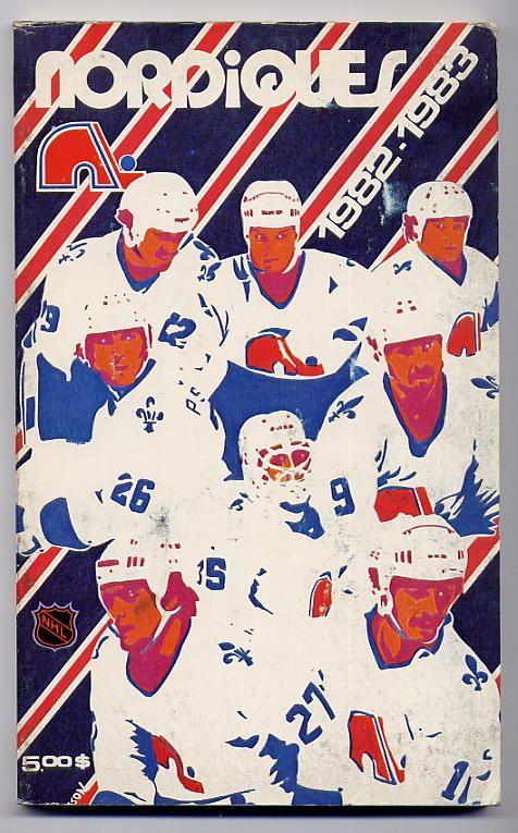 Quebec Nordiques 82-83 Program