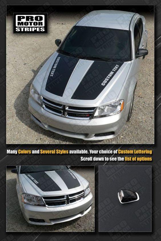 Dodge Avenger Hood Racing Stripes 2008 2009 2010 2011 2012 2013 in eBay Motors, eBay Motors | eBay