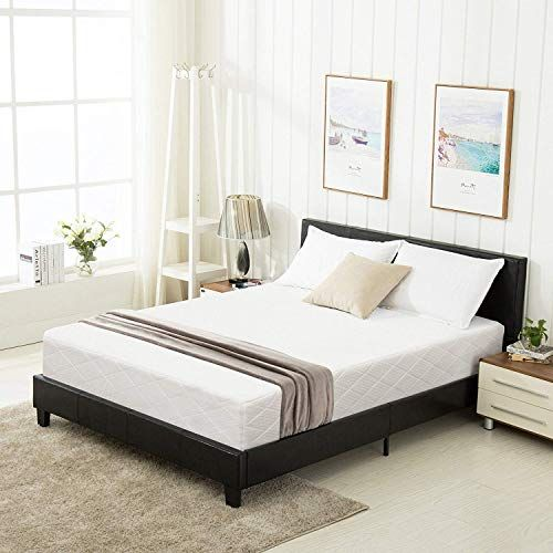 Amazing Offer On Mecor Queen Bed Frame Faux Leather Upholstered