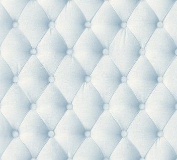 Light blue linen tufted fabric trompe l 39 oeil wallpaper by - Light blue linen wallpaper ...