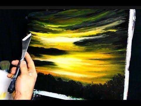 Morgendammerung Idee Farbe Leinwandmalerei Und Maltechniken Kunst