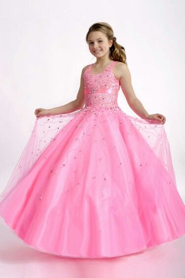 Pink pageant dress for little girls - Pageant Dresses - Pinterest ...