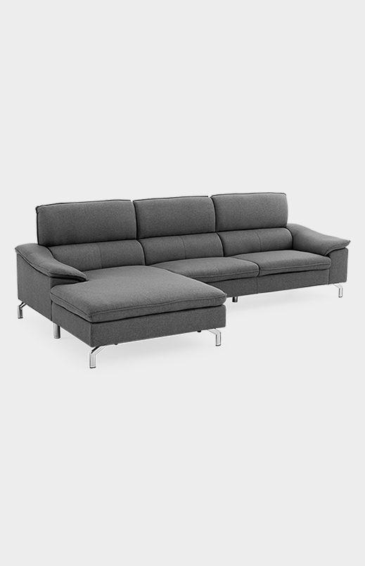 Image Pour Divan Sectionnel En Tissu Gris A Partir De Brault Martineau Home Sectional Couch Home Decor
