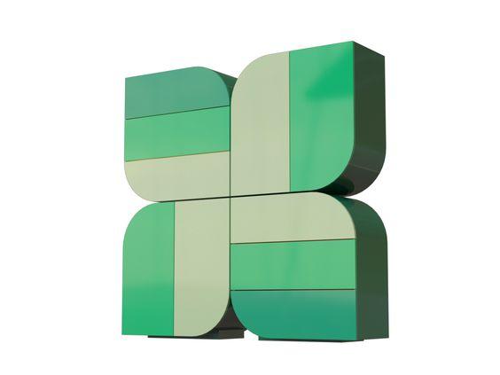 Aparador lacado de madeira QUATREFEUILLE Coleção Móveis de arrumação by Pierre Cardin - Forme | design Studio Pierre Cardin