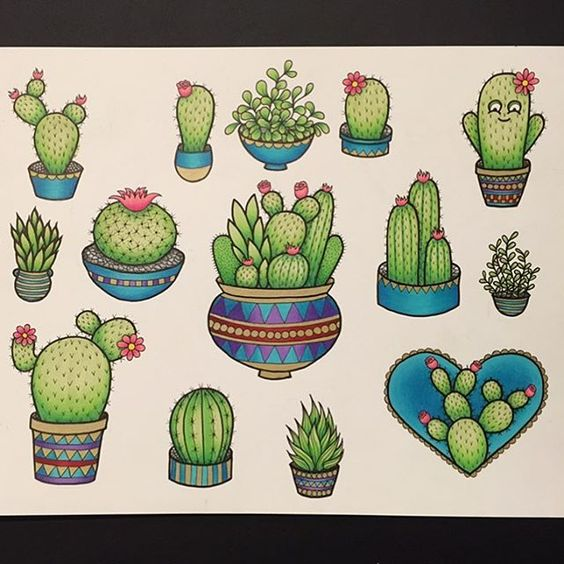 i forgot to post my cactus flash sheet i 39 ve only tattooed