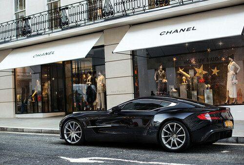 Luxury living: designer black maserati car