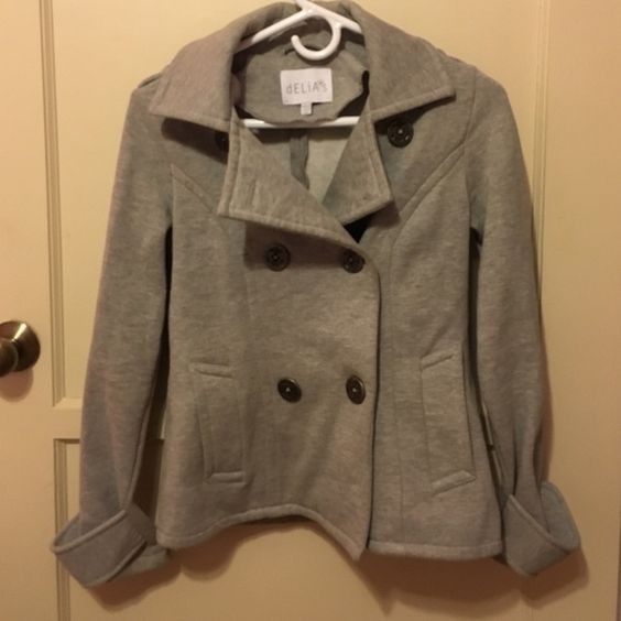 Delia pea coat Delia light grey pea coat. Delias  Jackets & Coats Pea Coats