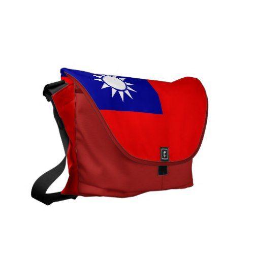Taiwan Flag On Rickshaw Messenger Bag Zazzle Com Bags Messenger Bag Taiwan Flag