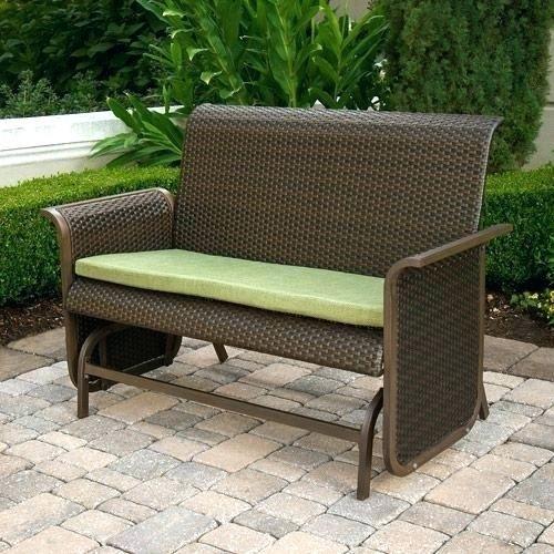 Patio Bench Walmart Glider Chair Patio Glider Bench Modern Wicker