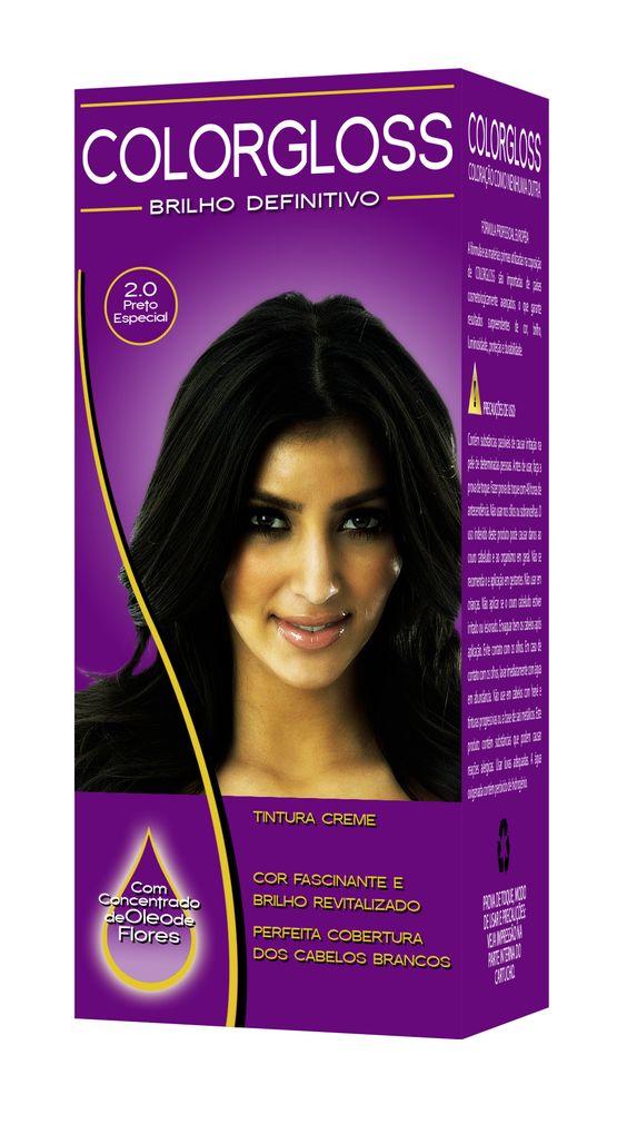 Caixa de tintura para cabelos - Adobe Photoshop | Criação do nome e embalagem. O efeito 3D foi obtido com retângulos e distorções em perspectiva.