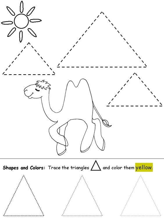 Triangle Worksheets: Triangle worksheets and coloring pages #shapes #triangles    ,