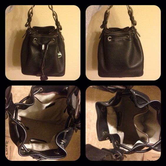 Dooney & Bourke Black handbag purse It's been used but in great condition. Pebble grain leather. Couple small pen marks on inside. No stains, smells or scratches. Loved this purse but I got too many and this one needs a new home. Non smoking home here. Not in a hurry to sell but reasonable offers will be considered. 💕😎☺✨ $95 via Paypal ✨ Dooney & Bourke Bags