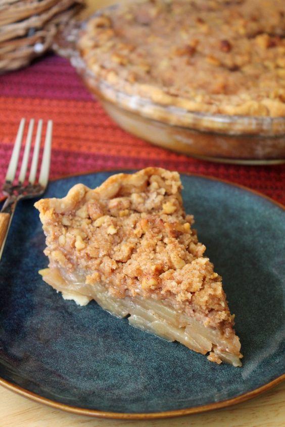 Walnut Maple Pie Recipe — Dishmaps