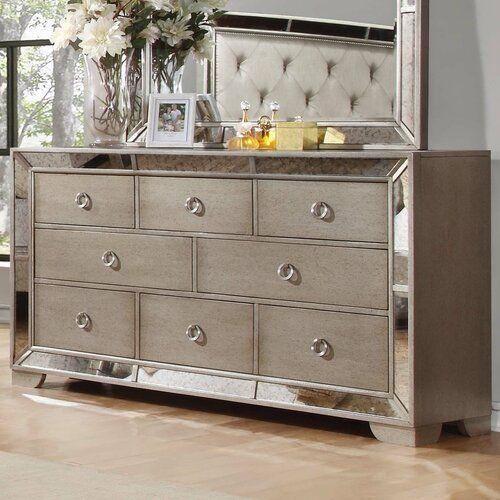 Modern Contemporary Accent Mirror In 2020 8 Drawer Dresser Furniture Dresser With Mirror