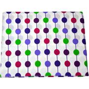 Bacati - Botanical Pearl String Fitted Crib Sheet, Purple