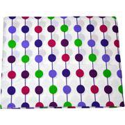 Bacati - Botanical Pearl String Fitted Crib Sheet, Purple