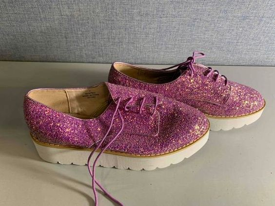 size 7 NEW Michael Antonio Purple /& Gold Croc Look Strappy High Heels With Ankle Buckles GORGEOUS Pair of Heels Purple High Heels