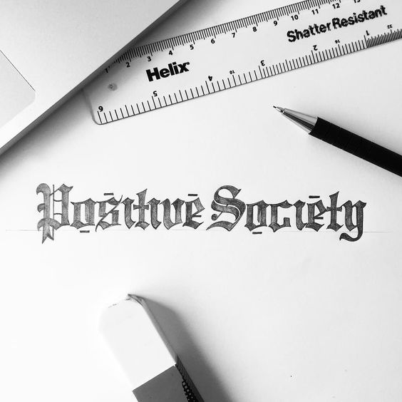 Build your own positive society!  #customtype #customlettering #customtypography #goodtype #thedailytype #type #typism #typegang #typespot #typography #typematters #brushtype #handtype #handdrawn #handmadefont #letters #lettering #letteringdesign #pen #ink #illustration #illustrated #font #design #script #sketch #drawing #thefinelab #todaystype by illesso_