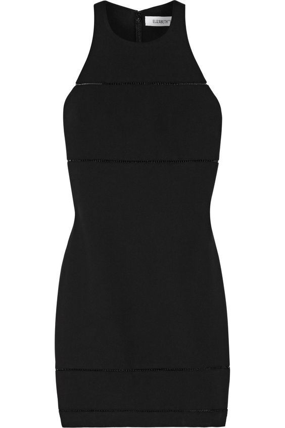ELIZABETH AND JAMES Prentice pointelle-trimmed stretch-ponte mini dress€410