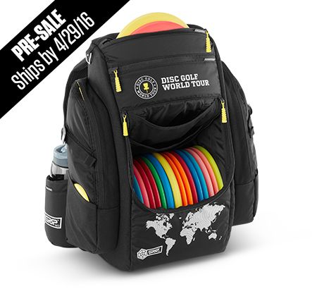 The New GRIP EQ, official Disc Golf World Tour Special Edition Bag This is the exclusive disc golf bag of the Disc Golf World Tour. The all black DGWTSpecial Edition sports the same utility, quality and durability of the popular GRIP B-series bag plus tough aluminum hardware, yellow pulls and DGWT silver graphics. Another standout …