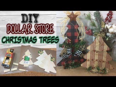 Diy Dollar Store Christmas Trees Farmhouse Inspired Rustic Christmas Decor Dollar Tree Christmas Decor Dollar Store Christmas Christmas Tree Decorations