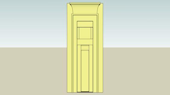 Ti mastaba false door v dynasty 2484 2336 bc memphis for Door 3d warehouse