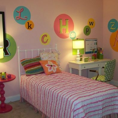 Like the letters on the wall...a different way to spell out your little one's name!