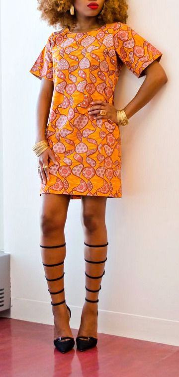 African Print Buba Dress.  An easy to wear shift dress made from Ankara fabric carefully detailed with Swaroski crystals. Ankara | Dutch wax | Kente | Kitenge | Dashiki | African print dress | African fashion | African women dresses | African prints | Nigerian style | Ghanaian fashion | Senegal fashion | Kenya fashion | Nigerian fashion | Ankara crop top (affiliate)