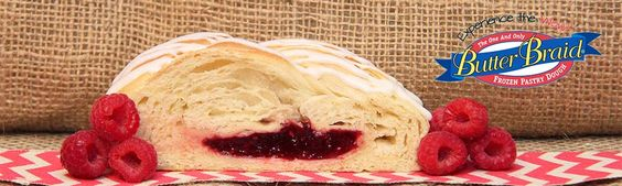 Raspberry Butter Braid pastry #ButterBraid #Pastry #Raspberry