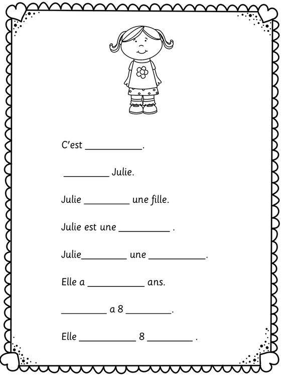 french - C'est la rentrée. Easy worksheets for learners of French ...