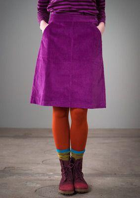 Jupe en velours côtelé coton/élasthanne–Jupes & robes–GUDRUN SJÖDÉN – Kläder…