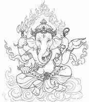 Ausmalen Erwachsene Ganesha