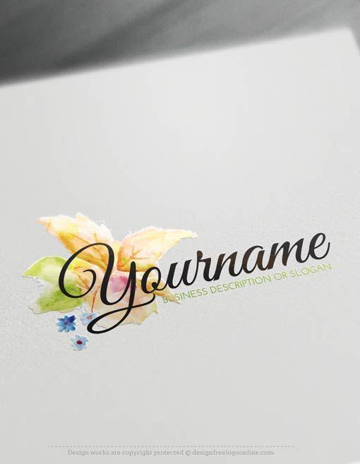 Create A Logo Free Lotus Flower Logo Templates Lily Flower