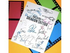 The Girl With The Dragon Tattoo Script Signed Screenplay Autographed: Daniel Craig, Rooney Mara, David Fincher, Christopher Plummer & More