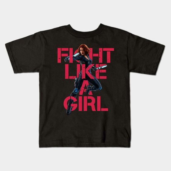 Black Widow - Fight Like A Girl Young T-Shirt