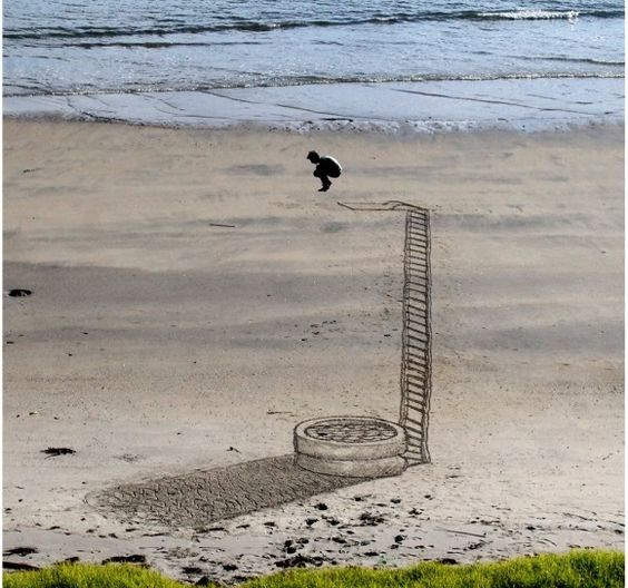 Take a look at this amazing Beach Sand Art Diving Illusion illusion. Browse and enjoy our huge collection of optical illusions and mind bending images and videos.