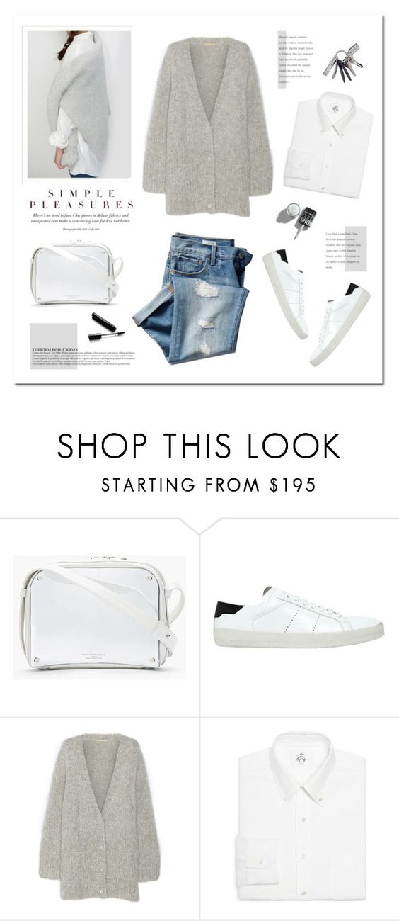 """""""Simple pleasures."""" by yexyka ❤ liked on Polyvore featuring Maison Margiela, Yves Saint Laurent, Michael Kors, Brooks Brothers, Anja, Michael Williams, Dolce&Gabbana and Gap"""