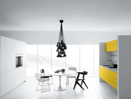 41 Cool White And Yellow Kitchen Design Vetronica By Meson E S Meaning Photo Gallery Minimalist Designs Modern