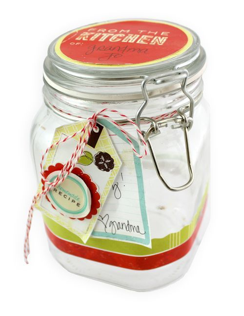 Love this jar - great use for scraps!! #scrapbooking