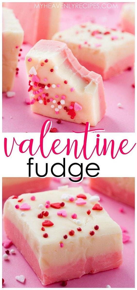 White Chocolate Valentine Fudge