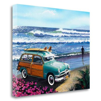 Tangletown Fine Art 'Surf City' by Scott Westmoreland Painting Print on Wrapped Canvas